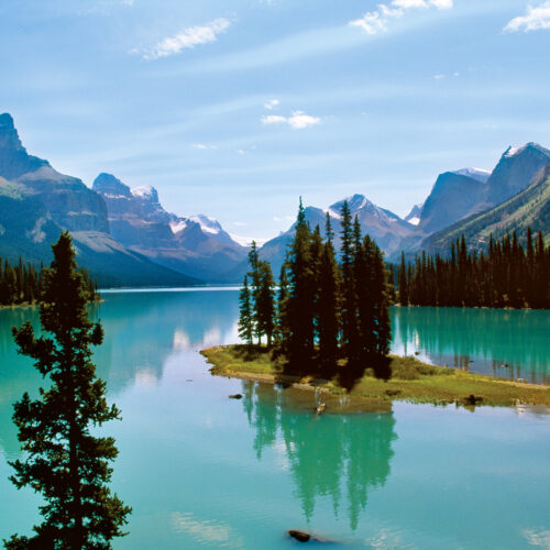 Scenic view of the Canadian Rockies
